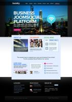 Sociality Joomla Template by DaJyDesigns