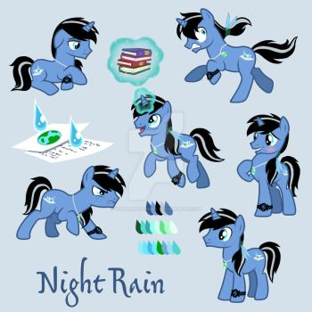 Commission: Night Rain by SapphireGamgee