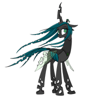 Queen Chrysalis: But I should be a butterfly by averagedraw