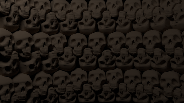 Wall of skulls background by egeres