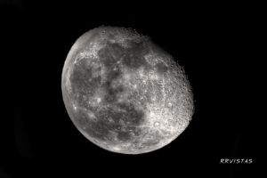 The moon by RRVISTAS