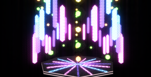 Cool neon stage DL DOWN by chocosunday