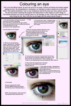 How to colour an eye by Monarda
