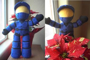 Halo Plush - Red vs Blue - Caboose by samanthawagner