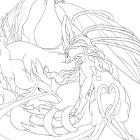 Suicune Used Constrict-Lineart by FieryWithin