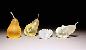 Cast Glass Pear Set by EllaGuru