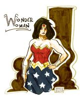 WonderWoman Copic Sketch by Andrew-ak-47