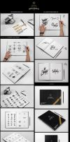 SketchBook / Calligraphy Book Mock-ups by SynthDesign