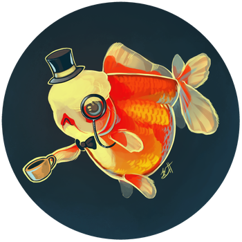 Dapper Goldfish by lauren-bennett