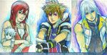 WIP - Kingdom Hearts Kairi, Sora and Riku by pauldng