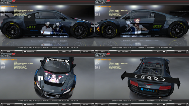 K-Project: HOMRA x SCEPTER4 Audi R8 LMS GT3 Itasha by FAT8893
