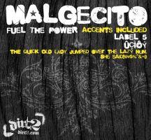 Malgecito Font by Dirt2.com by KeepWaiting