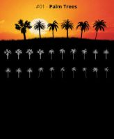 Tree Silhouettes vol.1 - Palm Trees by Horhew