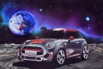 Mini Cooper on the Moon by ChalkTwins