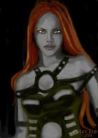 Fire haired drow by lorienicole