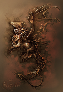 Sepia Dragon by Fleurdelyse