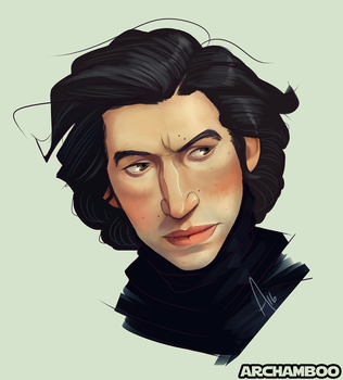 Trouty-Mouth Kylo by macamonkey