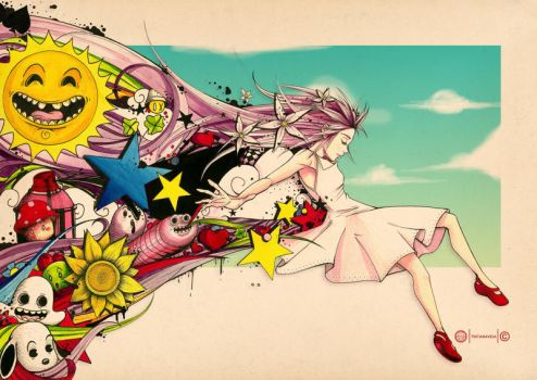 Lucy in the sky by tintanaveia