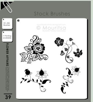 Brush Pack - Flower Affairs by MouritsaDA-Stock