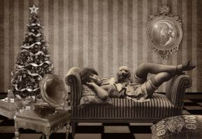 Waiting For Christmas by Shirley-Agnew-Art