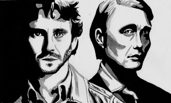 Will and Hannibal by meralc