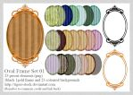 330 Oval Striped Frame by Tigers-stock