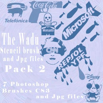 stencil brushes pack 2 by wadu