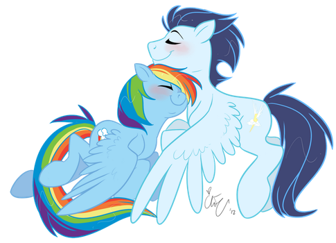 Soarin' with rainbows by Chib-bee