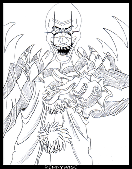 coloring pages of pennywise the clown - pennywisetheclown deviantart