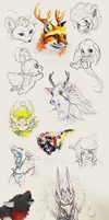 Sketchdump: contest prizes by Nordeva