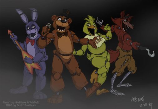 FNAF - The Gang's All Here - 10-20-14 by Mattartist25