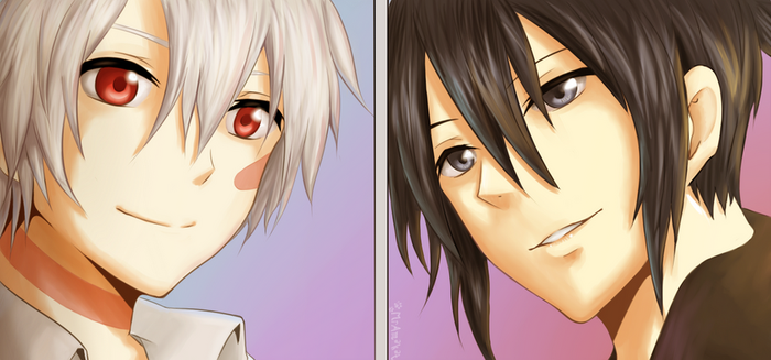 No.6: Nezumi and Shion by MrAmakat