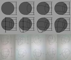 Human Head Draw Technique Step by Step by Suuxe
