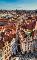 The roofs of Prague by mrotsten