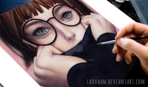 Glasses in Watercolor by Laovaan