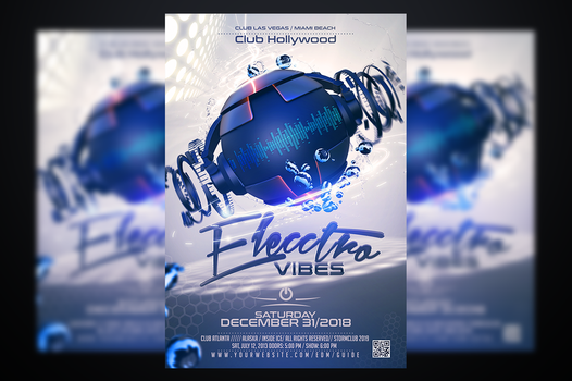 Electro Vibes Flyer Template by stormclub