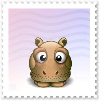 Cute Zoo - H for Hippo by DayDreamOz