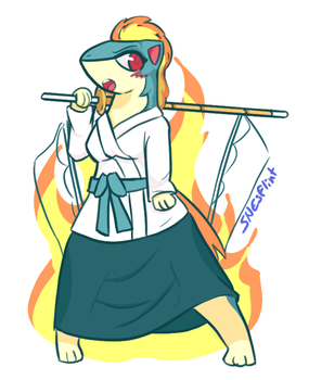 Kendo Quilava Girl by Super-Flint