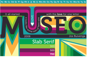 Museo Typography Poster by Hidden-Rainbows