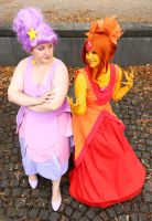Adventure Time: LSP and Flame Princess by straychild77