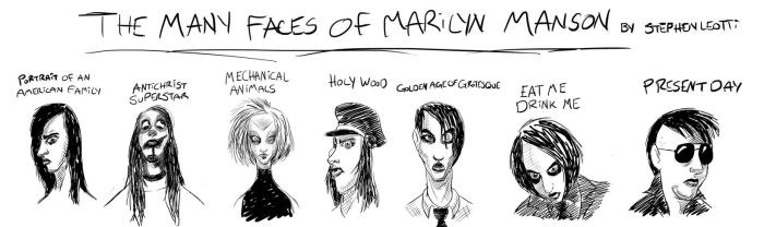 The many faces of Marilyn Manson final by StephenLeotti