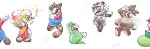 Mario Forms 1-7 by Creation7X24