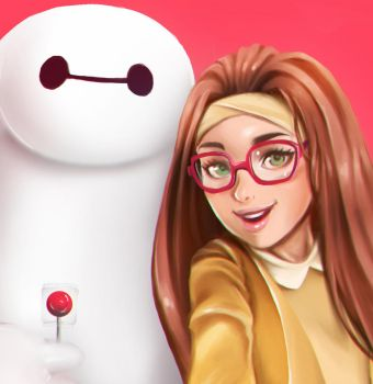 A Selfie with Baymax by equillybrium