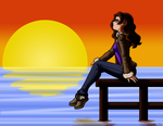 :C: Contemplating by Sunset by louisalulu