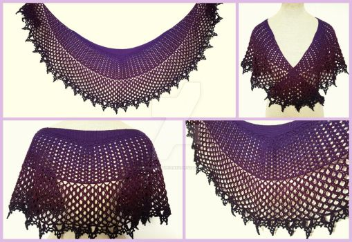 Black Magic crochet shawl by FearlessFibreArts