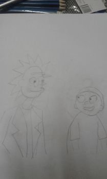 Rick and Morty drawing by Ashtasticle