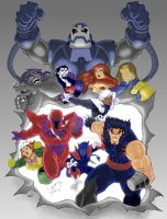 X-Men Age of Apocalypse COLORD by LucasAckerman