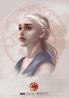 GAME OF THRONES :Daenerys Targaryen by Scottshi
