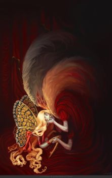The prostitution of the butterfly by Le-Garaehld