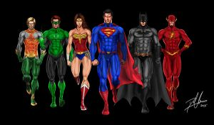The Justice League by DHK88